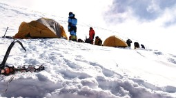 C4 - Sherpas preparing camp for incoming clients