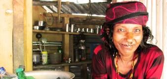 Nepali woman selling soda