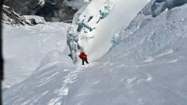 Climber on way to C3