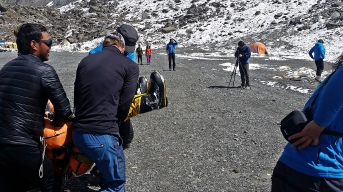 Rescue of a Spanish climber from C3