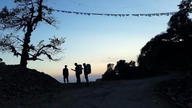 Speaking to a villager near Laprak