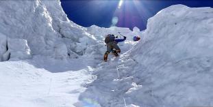 High on the rib to Camp 3 Annapurna