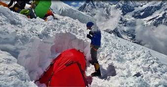 Digging out my tent at C2