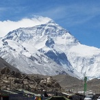 North face of Everest from Drivers Camp
